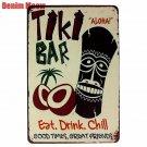 TIKI BAR Retro Plaque Metal Tin Signs Art Painting Decorative Plates for Bar Clu