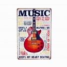 2017 LOVE Guitar Music Tin Plate Metal Signs Art Poster Cafe Bar Pub Vintage Pai