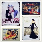 """Retro """"""""I WANT YOU FOR US"""""""" Tin Signs Plate Movie Posters Art Cafe Bar Vintage Met"""