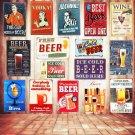 Mix Order Bar BEER Vintage Metal Signs Wall Art Decorative Plates Metal Plaque P