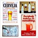 Shabby Chic BEER Vintage Metal Sign Bar Cafe Pub Tavern Home Decor Beer Wine Art