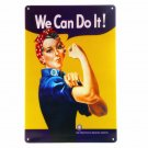 WE Can Do It Vintage Metal Tin Signs Retro Wall Decor Bar Tin Signs Home Decorat