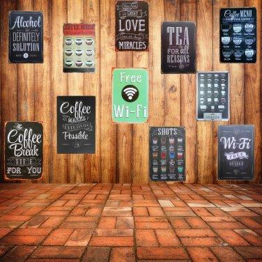 Free WIFI Shabby Chic Home Bar Cafe Vintage Wall Decor Art