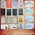 Lovely Flower WELCOME To My Home Iron Metal Poster Tin Sign Plate Wall Decoratio