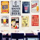 SAVE WATER DRINK BEER Tin Sign Vintage Metal Poster Decorative BAR Metal Plate P