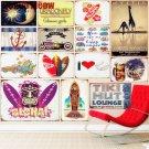 Tiki Hut Lounge Plaque Vintage Metal Tin Signs Home Bar Garage Decorative Metal