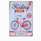 Riding Is FUN Vintage Metal Tin Signs Cafe PUB Home Decor Wall Metal Plates Bar