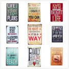 2017 New Arrival Family Rules Tin Sign Vintage Art Metal Plate Pub Bar Cafe Wall