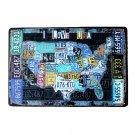 Country Car Plates USA Route 66 MAP Vintage Tin Sign Bar Pub Home Garage Wall De