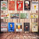 Retro Plaque Drink Beer Metal Tin Sign Home Bar Pub Club Wall Decor Art Poster P