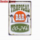 TROPICAL BAR Vintage Metal Decorative Plates Bar Pub Cafe Home Kitchen Tavern Ti