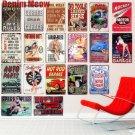Rocket Motor Oil Plaque Vintage Metal Tin Signs Home Bar Garage Decorative Metal