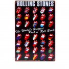 ROLLING STONES Vintage Metal Tin Signs Iron Painting Crafts Decoration Plates fo