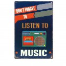 20x30CM Listen To Music HD Vintage Metal Tin Signs Creative Gift Home Decor Art
