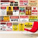 WARNING ZOMBIES Plaque Vintage Metal Tin Signs Home Bar Pub Decorative Metal Pla
