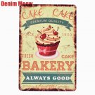 BAKERY Fresh Cake Plaque Metal Signs Bar Pub Cafe Home Decor Shop Billboard Art