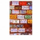Car Number License Plate Combination Vintage Metal Tin Signs Decorative Art Post