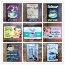 DRINK COFFEE Vintage Decorative Plates Retro Plaque 12 Styles Metal Tin Signs fo