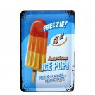 FREEZIE AMERICAN ICE POP Tin Metal Sign Shabby Chic Painting Plaque For Pub Bar