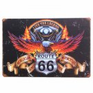 HD Route 66 Vintage Metal Decorative Plates Iron Wall Art Painting Retro Plaque
