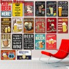 COLD BEER HERE  Plaque Vintage Metal Tin Signs Home Bar Pub Decorative Metal Pla