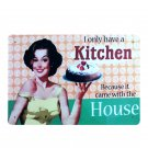 I Only Have A Kitchen Cake Lady Painting Bar House Decor Vintage Metal Sign Bake