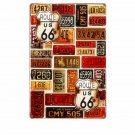 Route 66 Combination Styles Vintage Metal Tin Signs Creative Vintage Home Decor