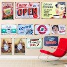 24 Styles SHOP Signs Vintage Metal Tin Sign Cafe Pub Bar Decorative Poster Plaqu
