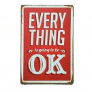 Everything Is Ok Retro Wall Pictures Metal Tin Signs Retro Poster Vintage Home B