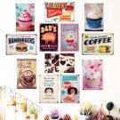Vintage Cake Dessert Pie Ice Cream Metal Signs Retro Bakery Kitchen Wall Art Pai