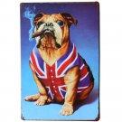 Cute Smoking Dog Metal Tin Signs Vintage Iron Plate Painting Art Home Decor Post