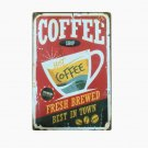 New Style COFFEE Shop Plaque Metal Vintage Tin Signs CAFE Pub Bar Home Decor Fre