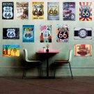 Metal Tin Signs Retro Poster Route 66 Vintage Home Bar Decor Sticker Decorative