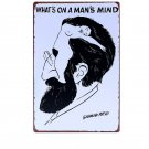 "What""""s On A Man""""s Mind Vintage Home Decor Tin Signs Bar Home Wall Metal Decorati"