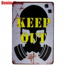 Plaque KEEP OUT Vintage Metal Signs Cafe Bar Pub Club Home Wall Decor ART Painti