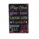 30x20cm Vintage Play Often Love Home Decor Tin Sign For Cafe Home Wall Decor Met
