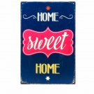 Sweet Home Creative Vintage Home Decor Plaque Art Poster Decor Iron Plate Wall S