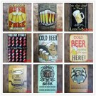 13 NEW Styles COLD BEER Retro Plaque Home Bar Decor PUB Cafe Brewery Wall Metal
