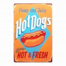 New Arrive HOT DOG Vintage Metal Tin Sign Decorative Coffee Plates Shabby Chic D