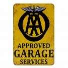 Plaques Approved Garage Service Vintage Metal Signs Motorcycle Bar Pub Club Wall