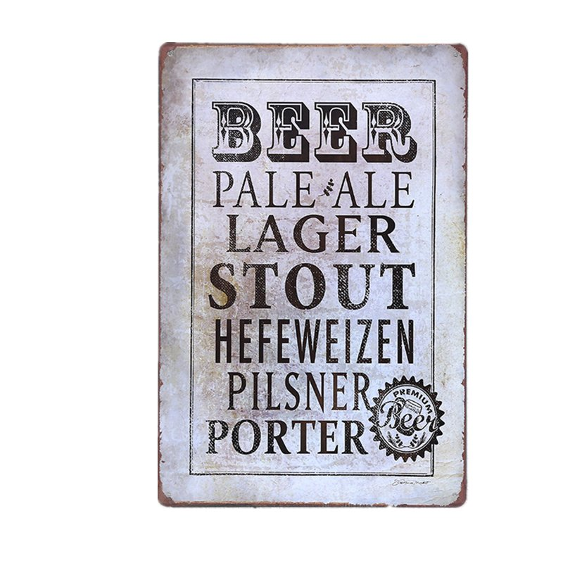 2017 New Beer Pale Ale Large Stout Vintage Tin Sign Bar Pub Cafe Home Wall Decor