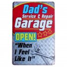 "Plaques Dad""""s Garage Vintage Metal Tin Signs Motorcycle Bar Pub Club Wall Sticke"