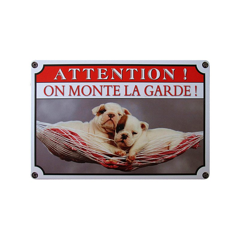 Attention Sleeping Cute Dogs Vintage Metal Tin Signs Home Decor
