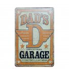 "DAD""""S Garage Vintage Metal Tin Signs Decoration Plates Wall Painting Art Poster"