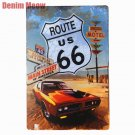 Route 66 Retro Metal Tin Signs Home Car Hotel Decor Decorative Metal Wall Sticke