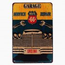 Route 66 Garage Vintage Metal Tin Signs Motorcycle Plaques Bar Pub Club Wall Sti