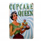 CUPCAKE QUEEN Metal Poster Cake Painting Art Home Decor Poster Retro Tin Sign Fo