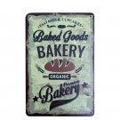 BAKERY Goods Vintage Metal Tin Sign Kitchen Food Painting Poster Antique Iron Ba