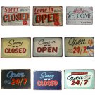"""""""""""Come In We Are Open"""""""" And """"""""Sorry We Are Closed """""""" Doorplate Vintage Metal Sign Wa"""