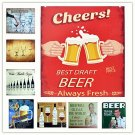 BEER All A Man Needs Vintage Metal Tin Signs Home Cafe Beer Pub Club Bar Decor P